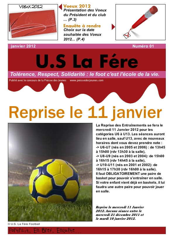 Journal 01 janvier 2012  Page 1