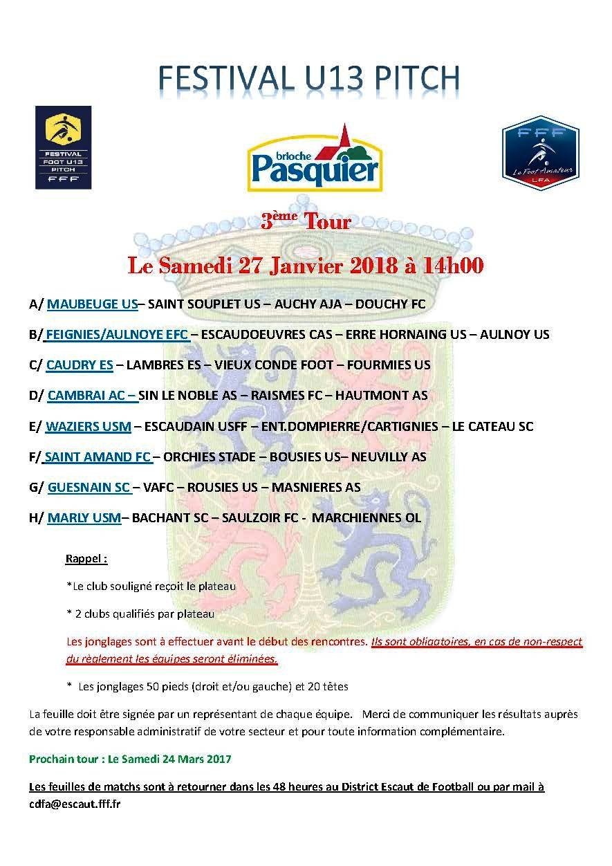 Festival U13 Pitch inter secteur 27.01.18